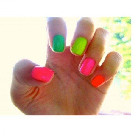 5 x BK 7ML Neon Nail Polish