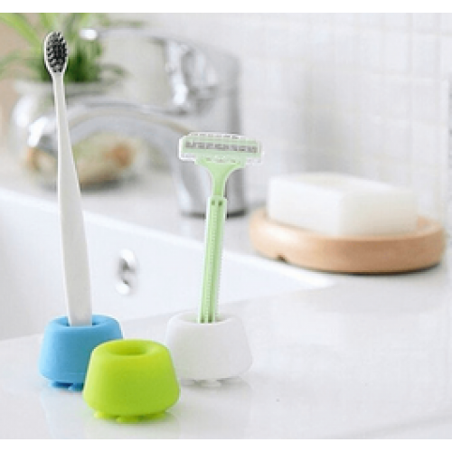 Silicone Suction Cup Toothbrush Razor Holder x 2