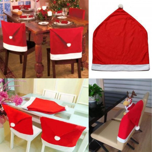 Christmas Hat Chair Covers